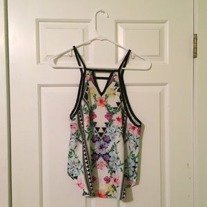 Tobi Tops - tobi strappy floral tank top